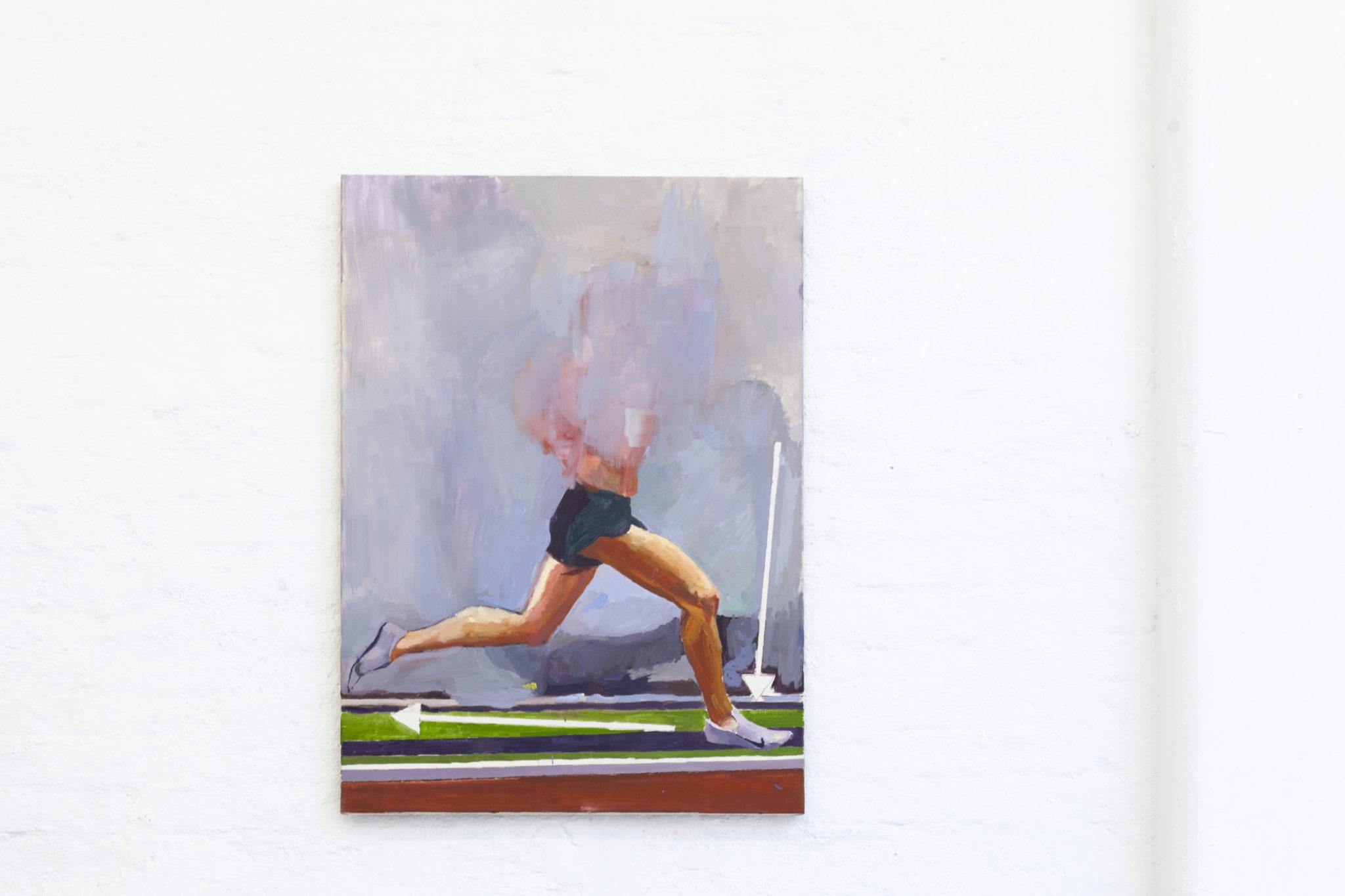 Bosse Bergfeld, How to run in proper form, Öl auf Leinwand, 120 x 80 cm, 2021_1