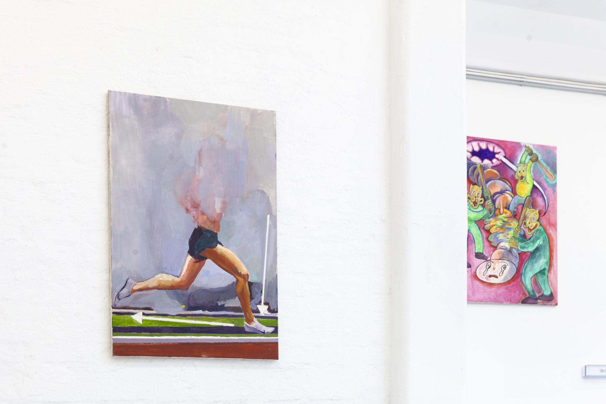 Bosse Bergfeld, How to run in proper form, Öl auf Leinwand, 120 x 80 cm, 2021_2