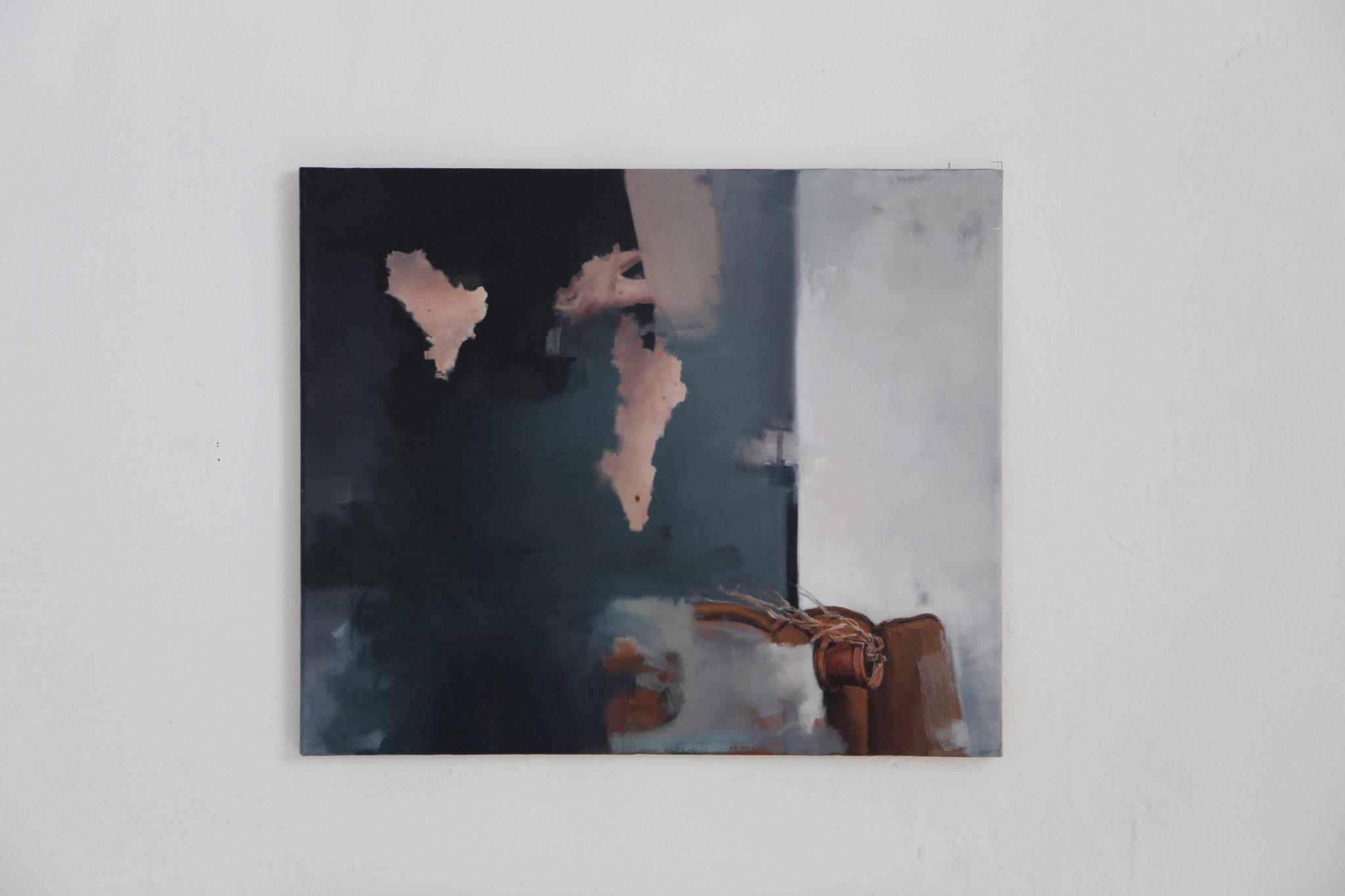 Felix Lorenz, Ohne Titel (Bild 1), Öl auf Leinwand, 60x50, 2020