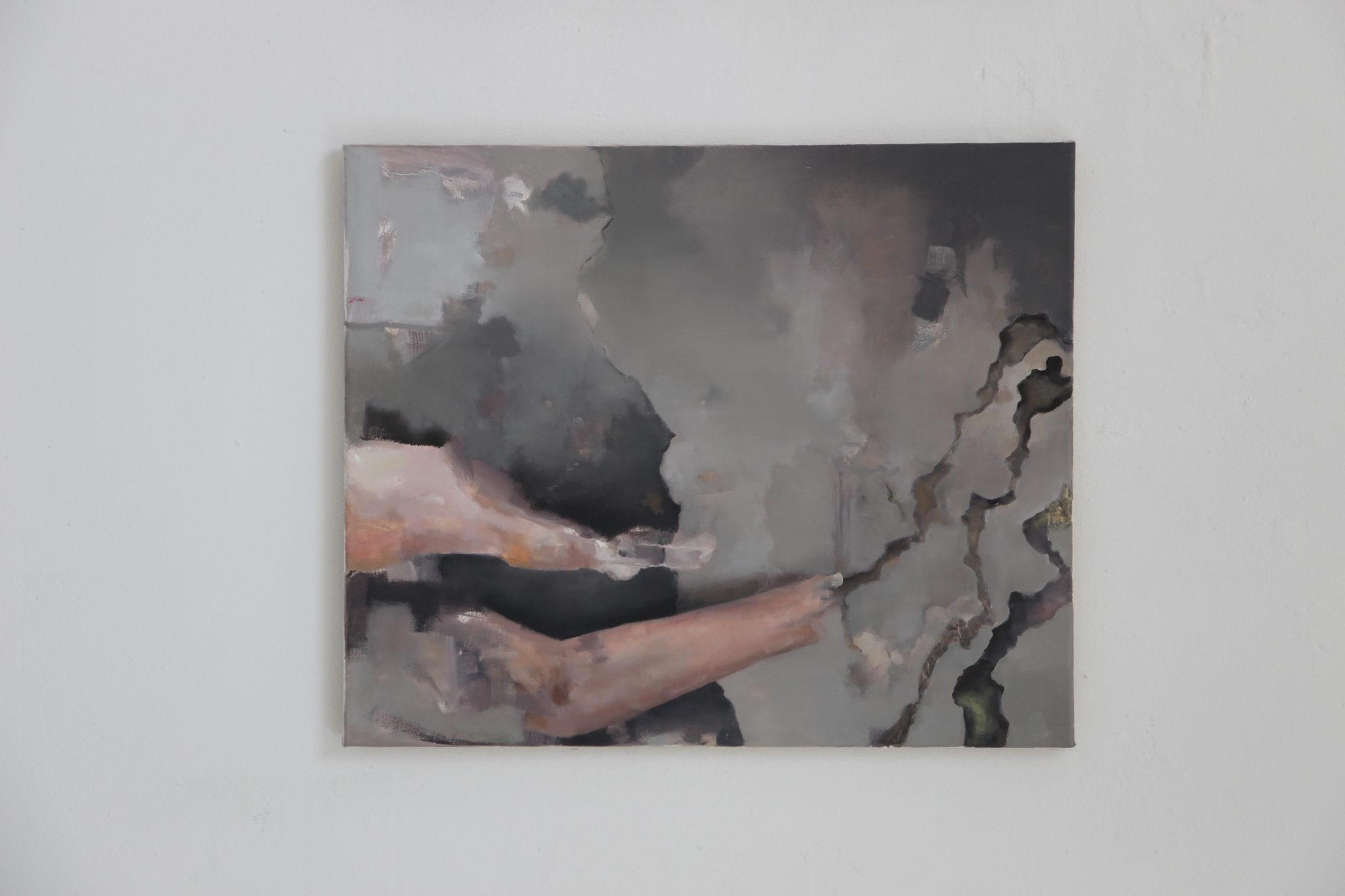 Felix Lorenz, Ohne Titel ( Bild 2), Öl auf Leinwand, 60x50, 2020