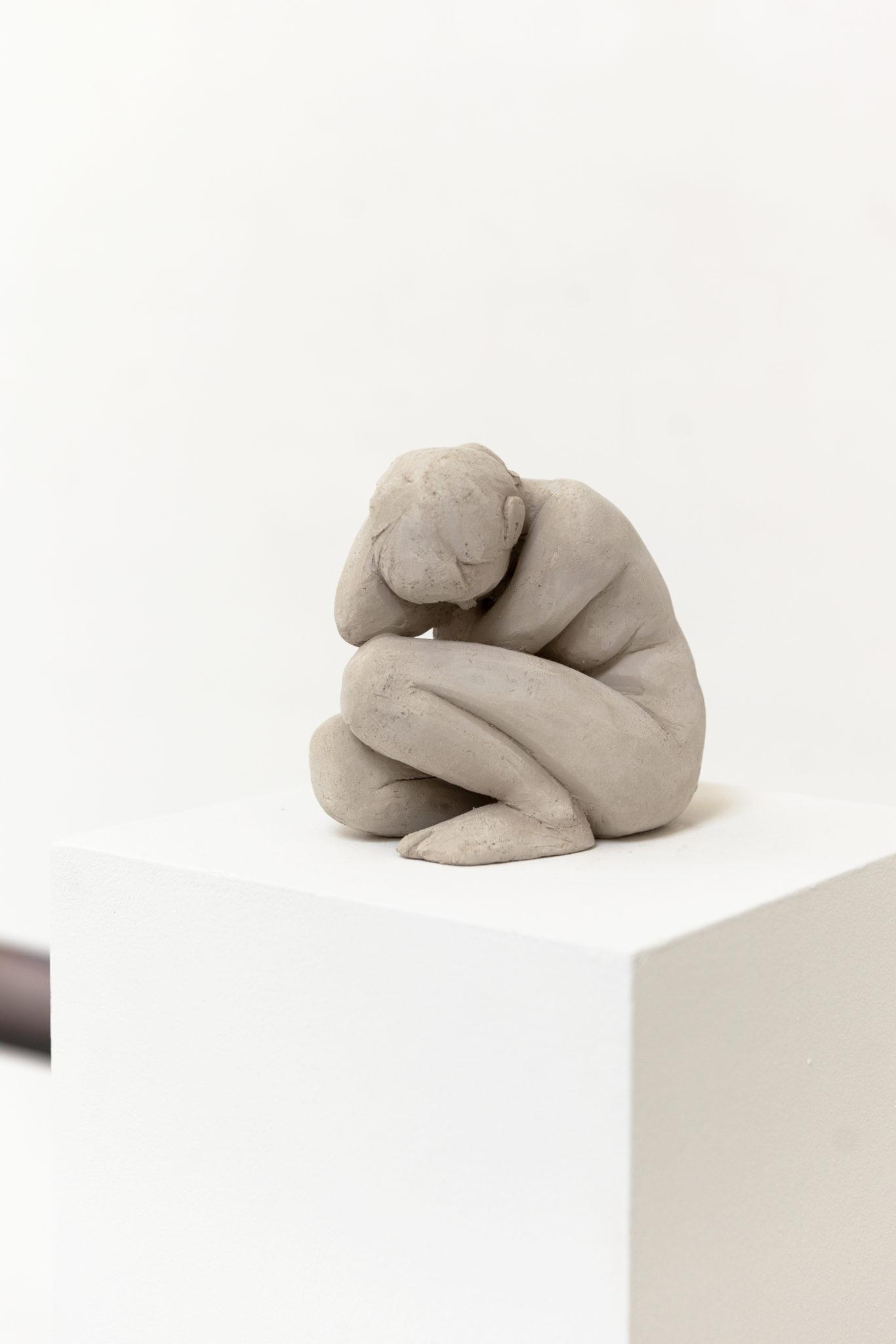 Franziska Dathe, Bedrückung, Ton (ungebrannt), 17 x 10 x 13 cm, 2021(1)