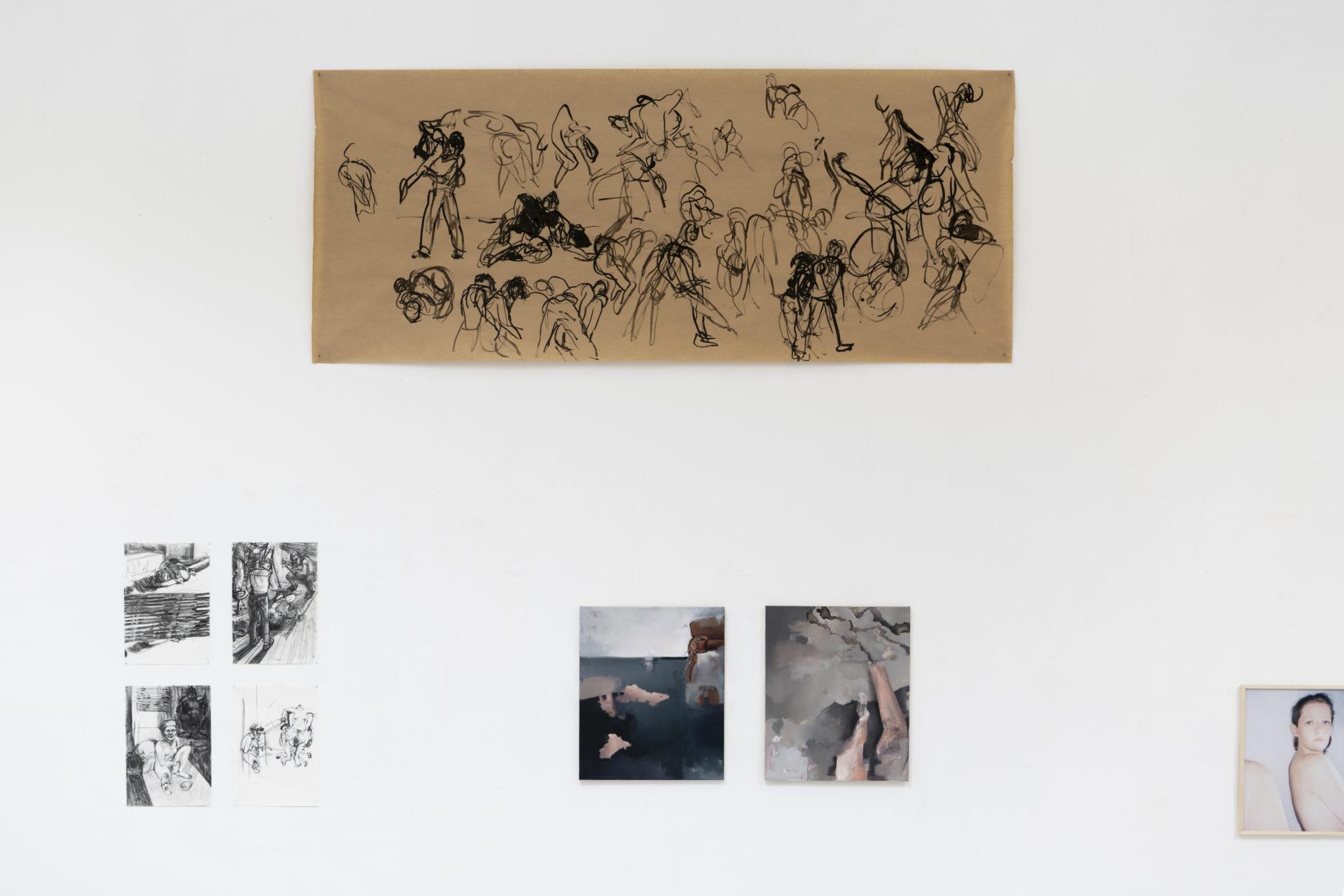 Franziska_Koch_Contact_Improvisation_Tusche_auf_Papier_100x240cm_2020
