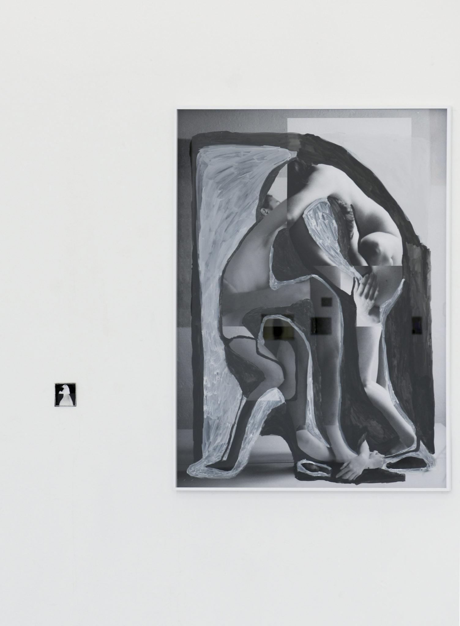 Luka Naujoks, Überwinden, Tusche auf C-Print, 120x90cm, 2021