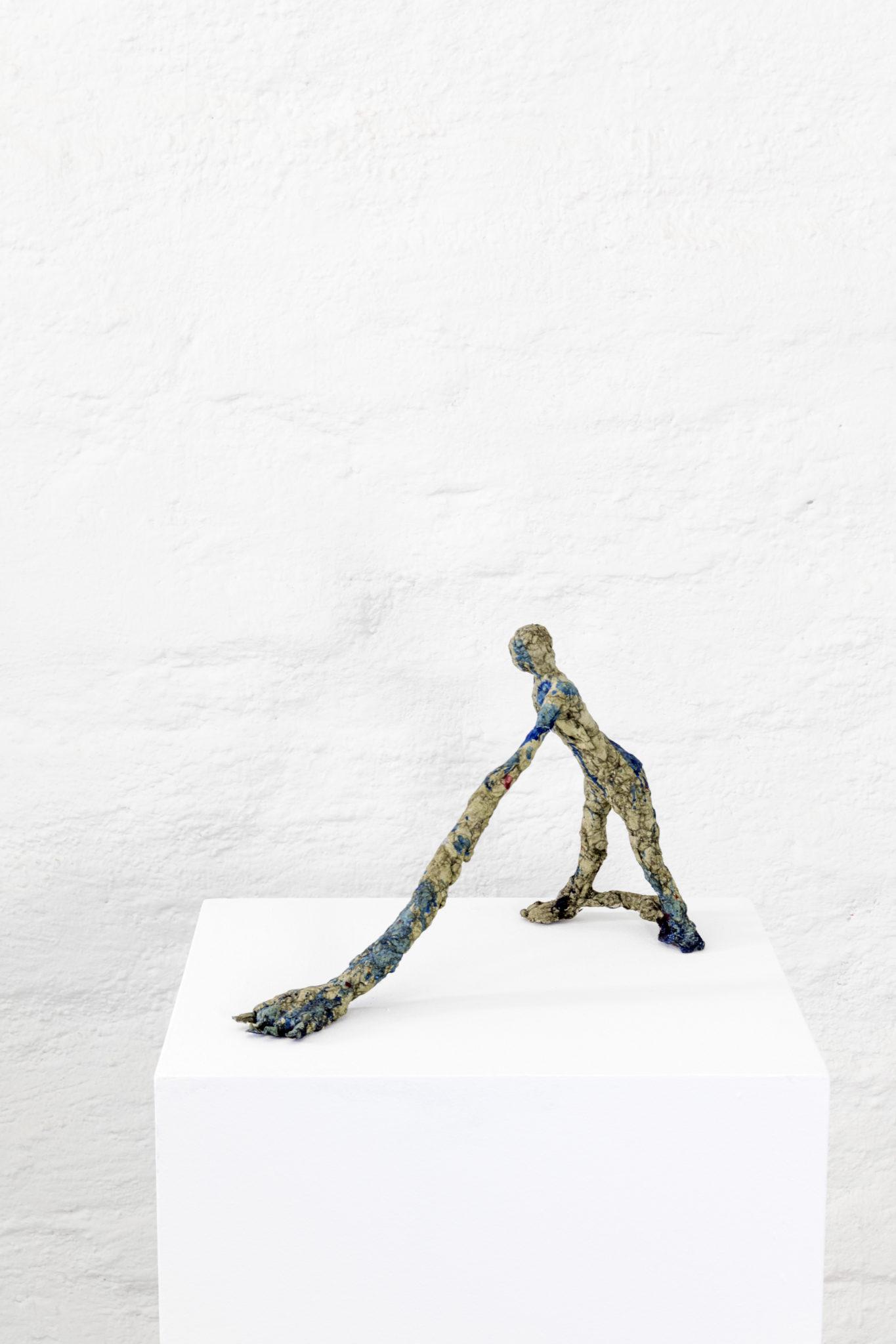 Nesren Shalgheen, Jetzt, Ton-Papier-Bindmittel, 30x40, 2017